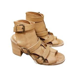 Ecote Heidi Caged Peep Toe Buckled Sandals